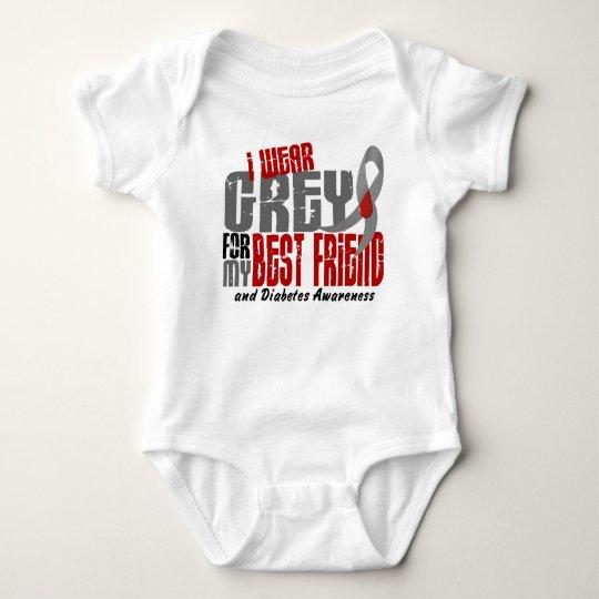 Diabetes I WEAR GREY FOR MY BEST FRIEND 6.2 Baby Bodysuit
