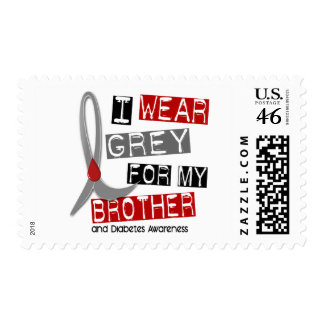 Diabetes I Wear Grey For My Brother 37 Stamps