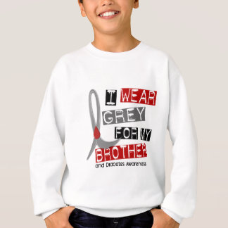 Diabetes I Wear Grey For My Brother 37 Sweatshirt