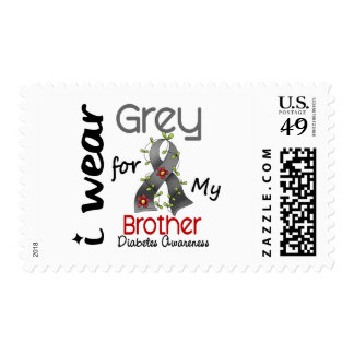 Diabetes I Wear Grey For My Brother 43 Postage Stamps