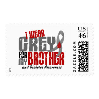Diabetes I WEAR GREY FOR MY BROTHER 6.2 Postage Stamp