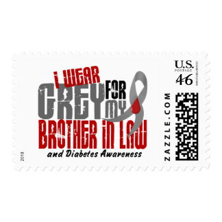 Diabetes I WEAR GREY FOR MY BROTHER-IN-LAW 6.2 Postage Stamps