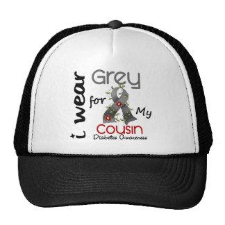 Diabetes I Wear Grey For My Cousin 43 Trucker Hat