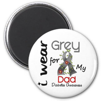 Diabetes I Wear Grey For My Dad 43 Magnets
