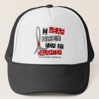 Diabetes I Wear Grey For My Daughter 37 Trucker Hat