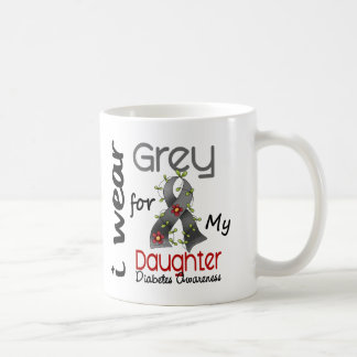 Diabetes I Wear Grey For My Daughter 43 Classic White Coffee Mug