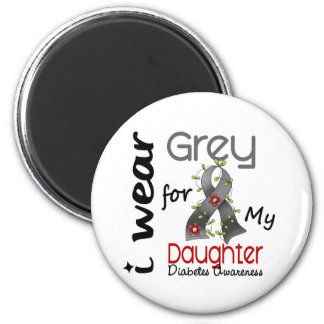 Diabetes I Wear Grey For My Daughter 43 Fridge Magnet