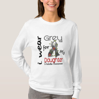 Diabetes I Wear Grey For My Daughter 43 T-Shirt