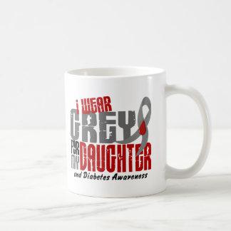 Diabetes I WEAR GREY FOR MY DAUGHTER 6.2 Classic White Coffee Mug