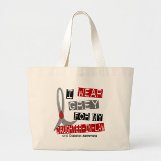 Diabetes I Wear Grey For My Daughter-In-Law 43 Canvas Bag