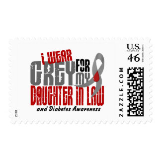 Diabetes I WEAR GREY FOR MY DAUGHTER-IN-LAW 6.2 Stamps