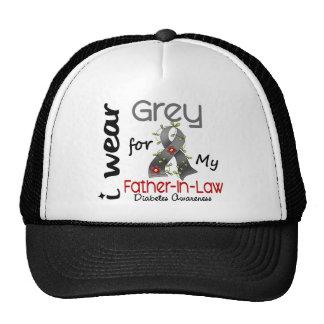 Diabetes I Wear Grey For My Father-In-Law 43 Trucker Hat