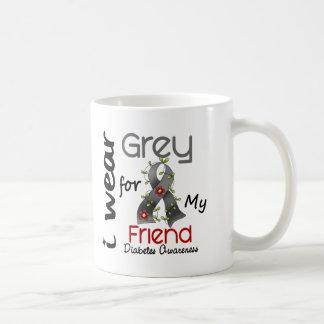 Diabetes I Wear Grey For My Friend 43 Coffee Mug