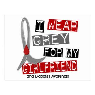 Diabetes I Wear Grey For My Girlfriend 37 Postcard
