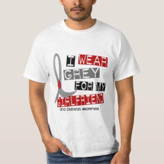 Diabetes I Wear Grey For My Girlfriend 37 T-Shirt