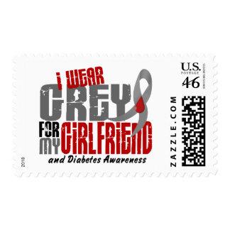 Diabetes I WEAR GREY FOR MY GIRLFRIEND 6.2 Stamp