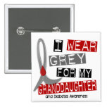 Diabetes I Wear Grey For My Granddaughter 37 Pin