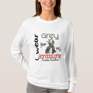 Diabetes I Wear Grey For My Granddaughter 43 T-Shirt