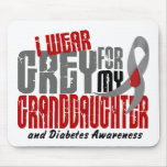 Diabetes I WEAR GREY FOR MY GRANDDAUGHTER 6.2 Mouse Mat