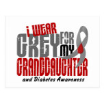 Diabetes I WEAR GREY FOR MY GRANDDAUGHTER 6.2 Postcards