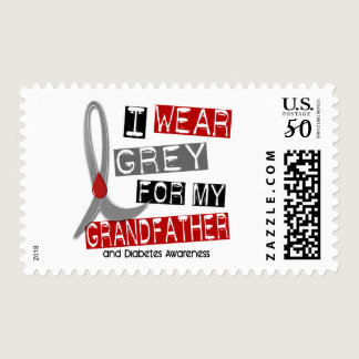 Diabetes I Wear Grey For My Grandfather 43 Postage