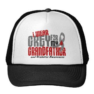 Diabetes I WEAR GREY FOR MY GRANDFATHER 6.2 Trucker Hat