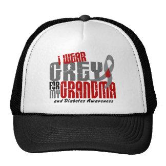 Diabetes I WEAR GREY FOR MY GRANDMA 6.2 Trucker Hat