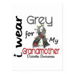 Diabetes I Wear Grey For My Grandmother 43 Postcard