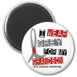 Diabetes I Wear Grey For My Grandson 37 2 Inch Round Magnet