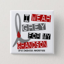Diabetes I Wear Grey For My Grandson 37 Button
