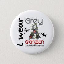 Diabetes I Wear Grey For My Grandson 43 Button