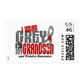 Diabetes I WEAR GREY FOR MY GRANDSON 6.2 Stamps