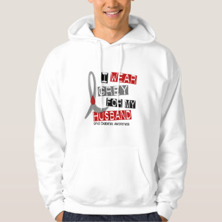 Diabetes I Wear Grey For My Husband 37 Hooded Sweatshirt