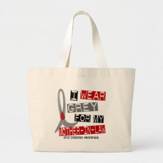 Diabetes I Wear Grey For My Mother-In-Law 43 Canvas Bags