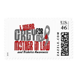 Diabetes I WEAR GREY FOR MY MOTHER-IN-LAW 6.2 Stamps