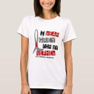 Diabetes I Wear Grey For My Nephew 37 T-Shirt