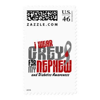 Diabetes I WEAR GREY FOR MY NEPHEW 6.2 Stamps