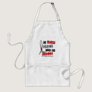 Diabetes I Wear Grey For My Niece 37 Adult Apron