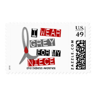 Diabetes I Wear Grey For My Niece 43 Stamps