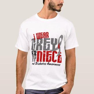 Diabetes I WEAR GREY FOR MY NIECE 6.2 T-Shirt