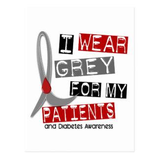 Diabetes I Wear Grey For My Patients 37 Postcard