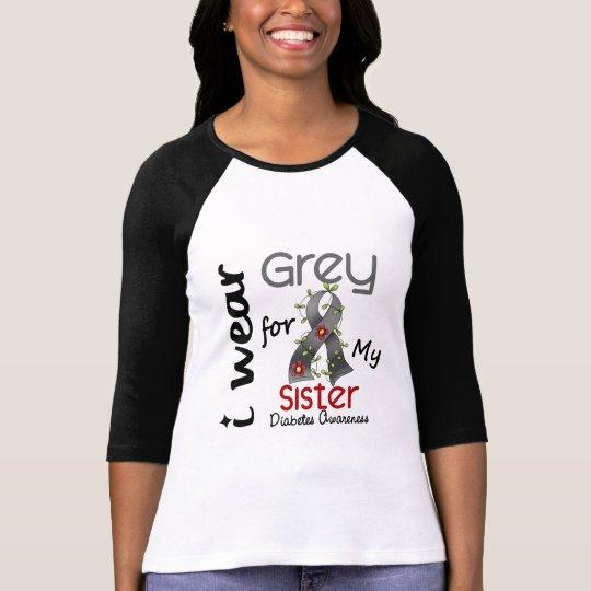 Diabetes I Wear Grey For My Sister 43 T-Shirt