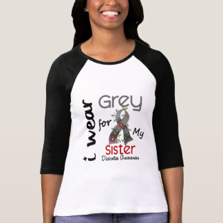 Diabetes I Wear Grey For My Sister 43 Tee Shirt