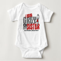 Diabetes I WEAR GREY FOR MY SISTER 6.2 Baby Bodysuit