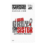 Diabetes I WEAR GREY FOR MY SISTER 6.2 Postage Stamp