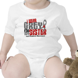 Diabetes I WEAR GREY FOR MY SISTER 6.2 Tee Shirts