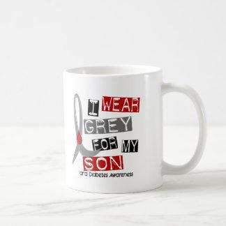 Diabetes I Wear Grey For My Son 37 Coffee Mug