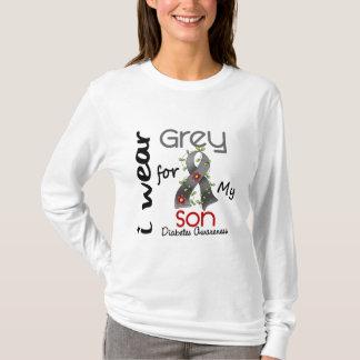 Diabetes I Wear Grey For My Son 43 T-Shirt