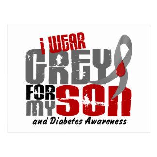 Diabetes I WEAR GREY FOR MY SON 6.2 Postcard