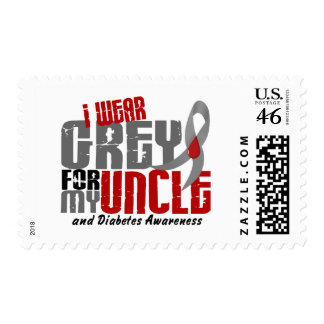 Diabetes I WEAR GREY FOR MY UNCLE 6.2 Stamp